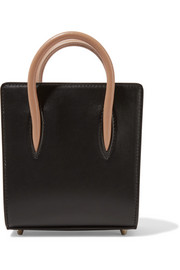 Paloma nano spiked matte and patent-leather tote
