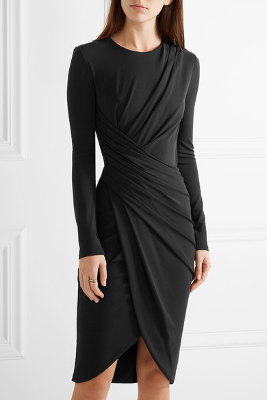michael kors collection draped stretch jersey dress net a porter com. Black Bedroom Furniture Sets. Home Design Ideas