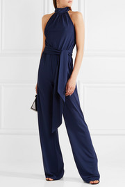 Stretch-crepe jumpsuit