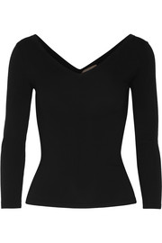 Michael Kors Collection Stretch merino wool-blend sweater