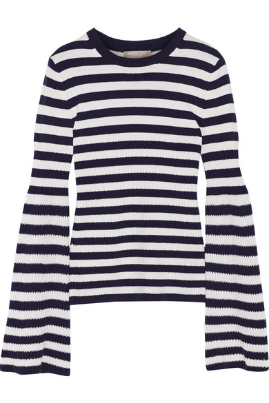 Michael Kors Collection - Striped Cashmere Sweater - Midnight blue