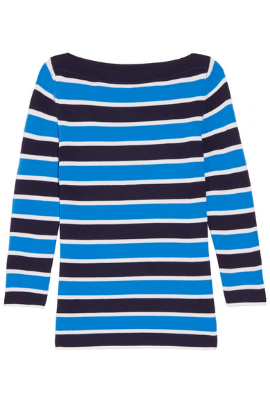 Michael Kors Collection - Striped Cashmere Sweater - Light blue