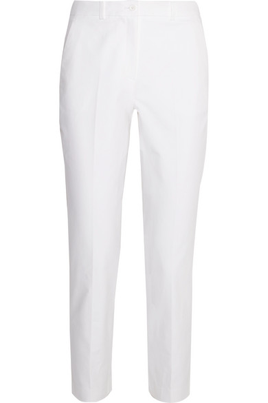 michael kors female 45883 michael kors collection samantha stretchcotton slimleg pants white