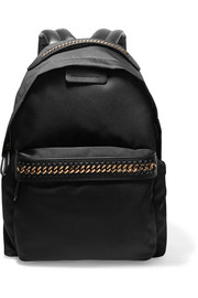 The Falabella faux leather-trimmed shell backpack