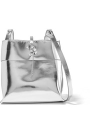 Kara Nano Tie mirrored-leather shoulder bag