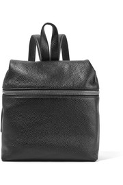 KARA Small textured-leather backpack