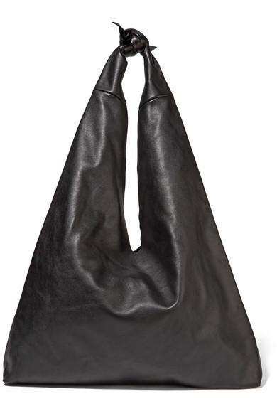Bindle leather shoulder bag