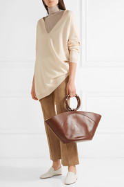 Market leather tote