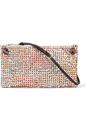 The Row Party Time 10 mother-of-pearl embellished raffia shoulder bag