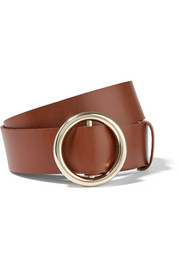 Circle leather belt