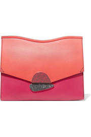 Proenza Schouler Curl medium color-block leather clutch