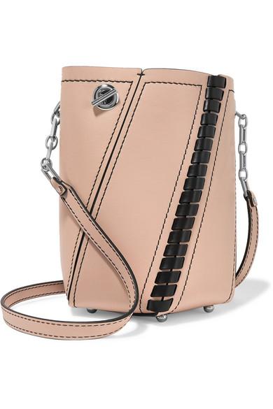 proenza schouler female proenza schouler hex mini paneled leather shoulder bag beige