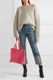 Shopper leather tote