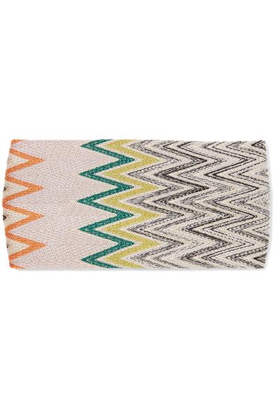 Missoni - Crochet-knit Headband - Blue