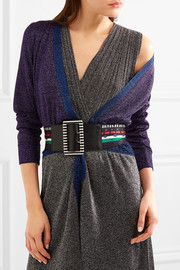 Missoni Leather-trimmed crochet-knit belt