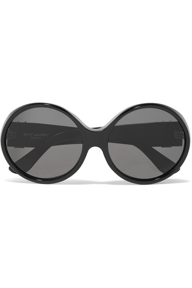cd488a0a248 Saint Laurent. Oversized round-frame acetate sunglasses