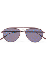 Tomas Maier Aviator-style metal mirrored sunglasses