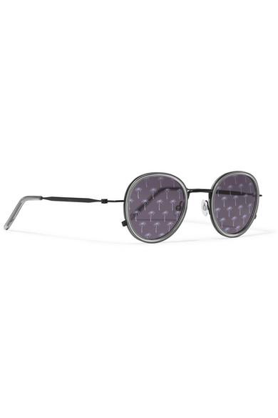 06763948d Tomas Maier | Round-frame acetate and metal sunglasses | NET-A ...