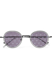 Tomas Maier Round-frame acetate and metal sunglasses
