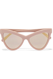 Stella McCartney Cat-eye acetate mirrored sunglasses
