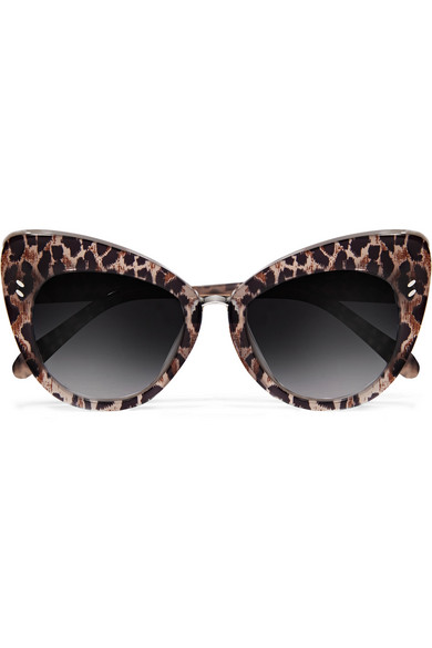 stella mccartney cat eye leopard print acetate sunglasses net a porter com. Black Bedroom Furniture Sets. Home Design Ideas