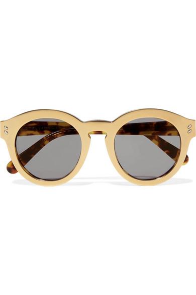 Stella McCartney Round-frame gold-tone and acetete ...
