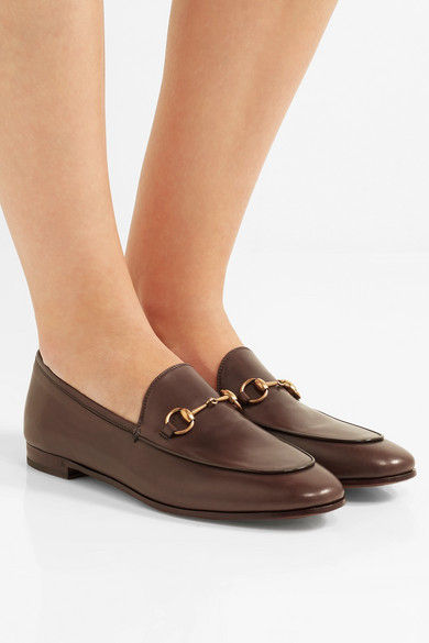 66f92bafed7 Gucci. Jordaan horsebit-detailed leather loafers