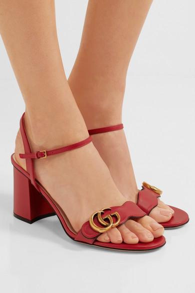 289ee7ff6554 Marmont logo-embellished leather sandals