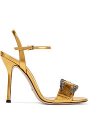 Gucci Dionysus metallic leather sandals