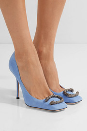 Dionysus embellished suede pumps