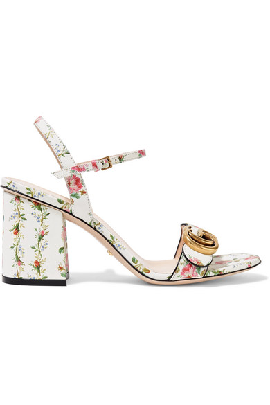 7818c7ff7c27 Gucci. Floral-print leather sandals