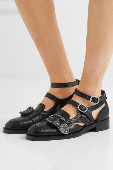 4dde60bd587 Gucci. Queercore embellished leather brogues