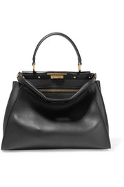 Peekaboo medium leather tote
