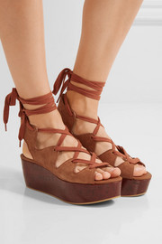 See by Chloé Lace-up suede platform sandals
