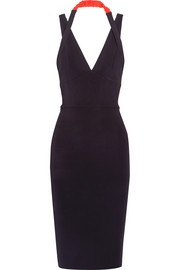 Victoria Beckham Halterneck stretch-ponte dress