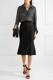 Victoria Beckham Fluted stretch-knit skirt