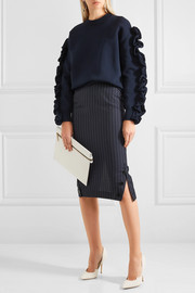 Victoria Beckham Pinstriped wool pencil skirt