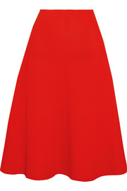 Victoria Beckham Ribbed pointelle-knit skirt