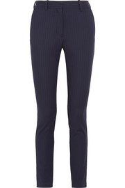 Victoria Beckham Pinstriped stretch-twill slim-leg pants