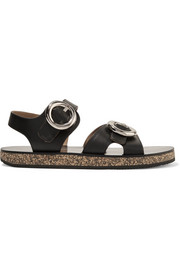 Joseph Buckled leather and cork sandals