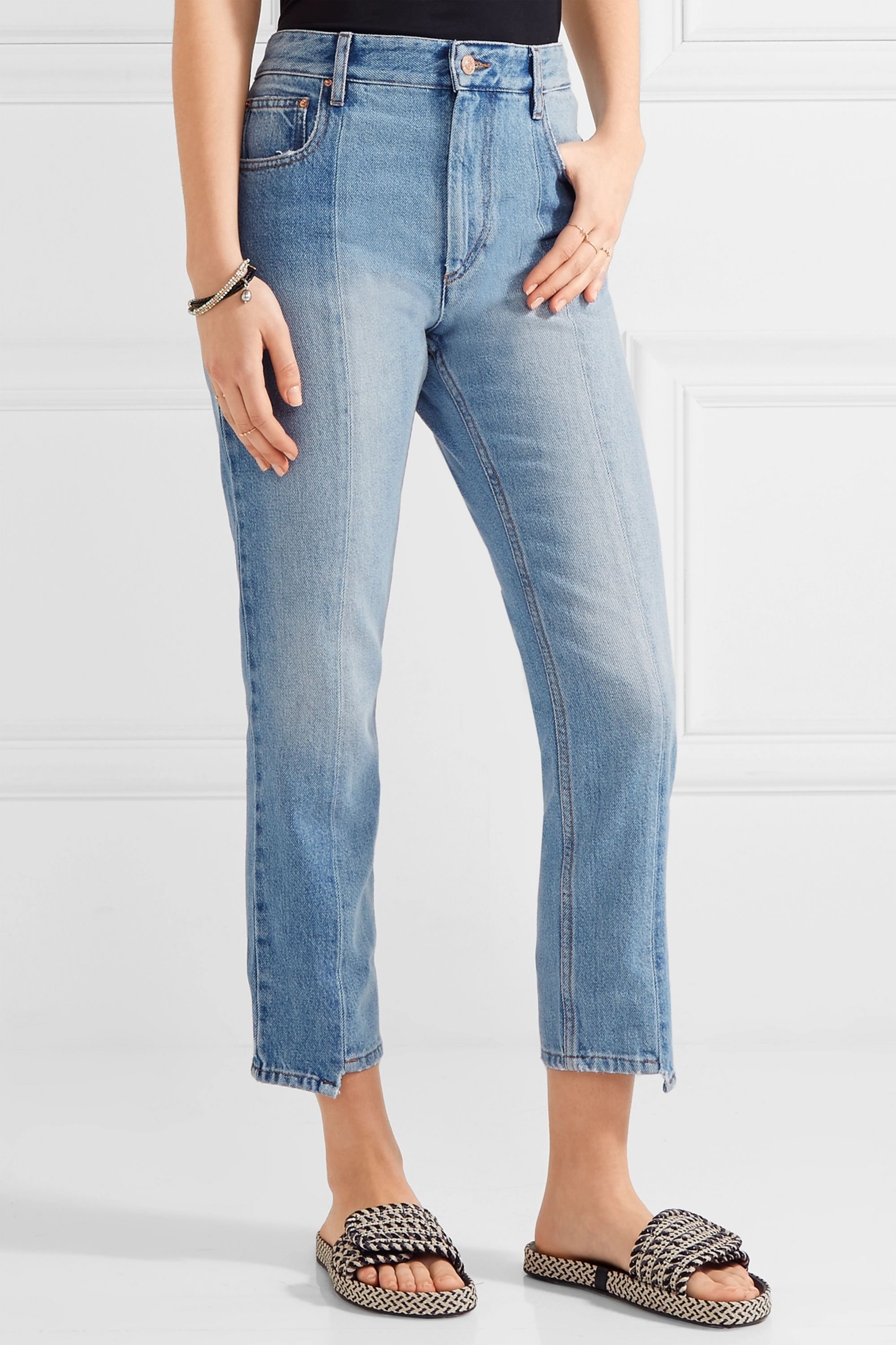 Isabel Marant Étoile Clancy cropped high-rise straight-leg jeans
