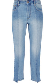 Étoile Isabel Marant Clancy cropped high-rise straight-leg jeans