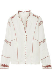 Étoile Isabel Marant Delphine embroidered linen top