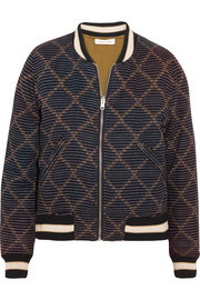 Étoile Isabel Marant Dabney reversible printed cotton bomber jacket