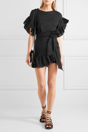 Étoile Isabel Marant Delicia ruffled linen mini dress