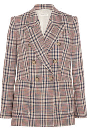 Janey checked linen blazer