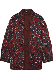 Daca floral-print quilted cotton jacket
