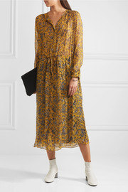Étoile Isabel Marant Baphir printed silk midi dress