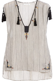 Étoile Isabel Marant Judith embroidered striped cotton top