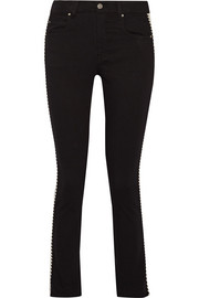 Étoile Isabel Marant Haven striped mid-rise straight-leg jeans
